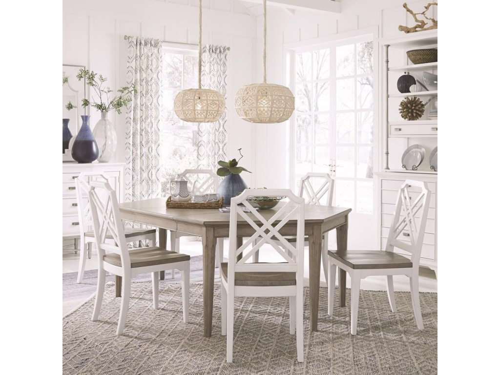 Magnussen Home Alys BeachDining Table Set with 6 Chairs