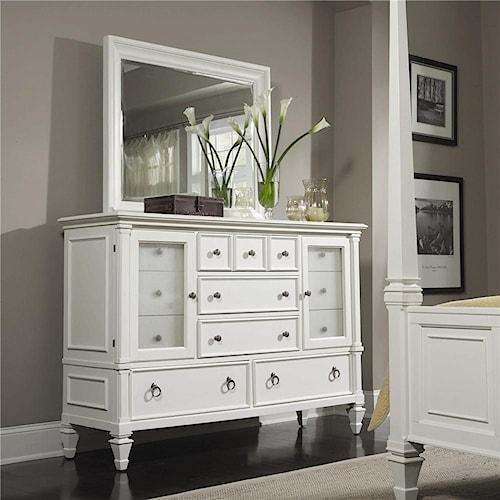 Magnussen Home Ashby Dresser and Wide Landscape Mirror