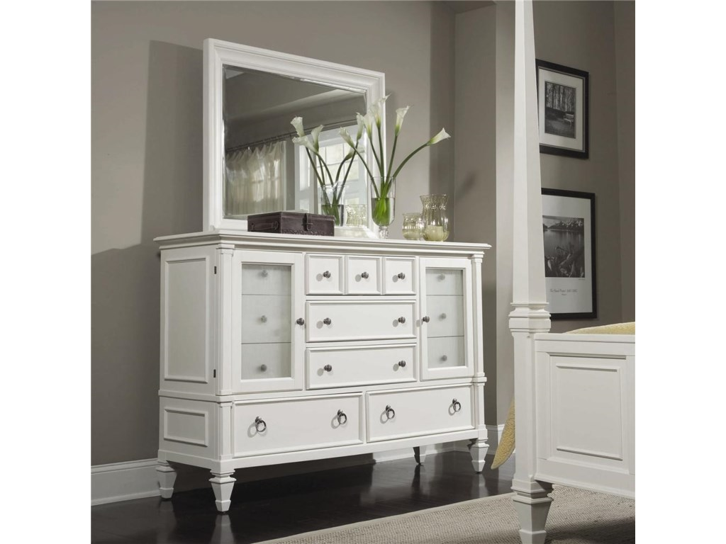 Magnussen Home AshbyDresser and Landscape Mirror