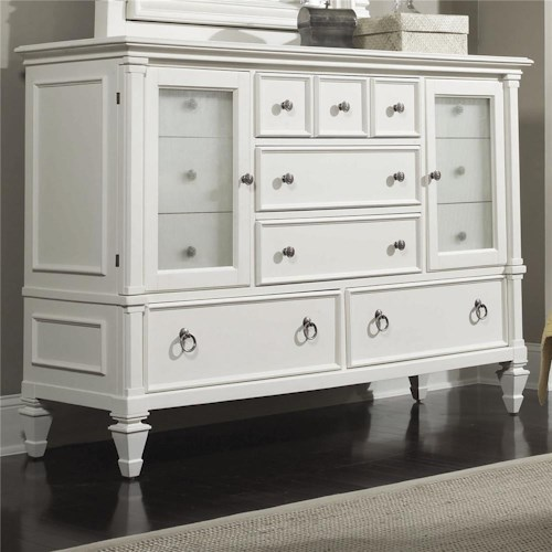 Magnussen Home Ashby Dresser with Reeded Glass Doors