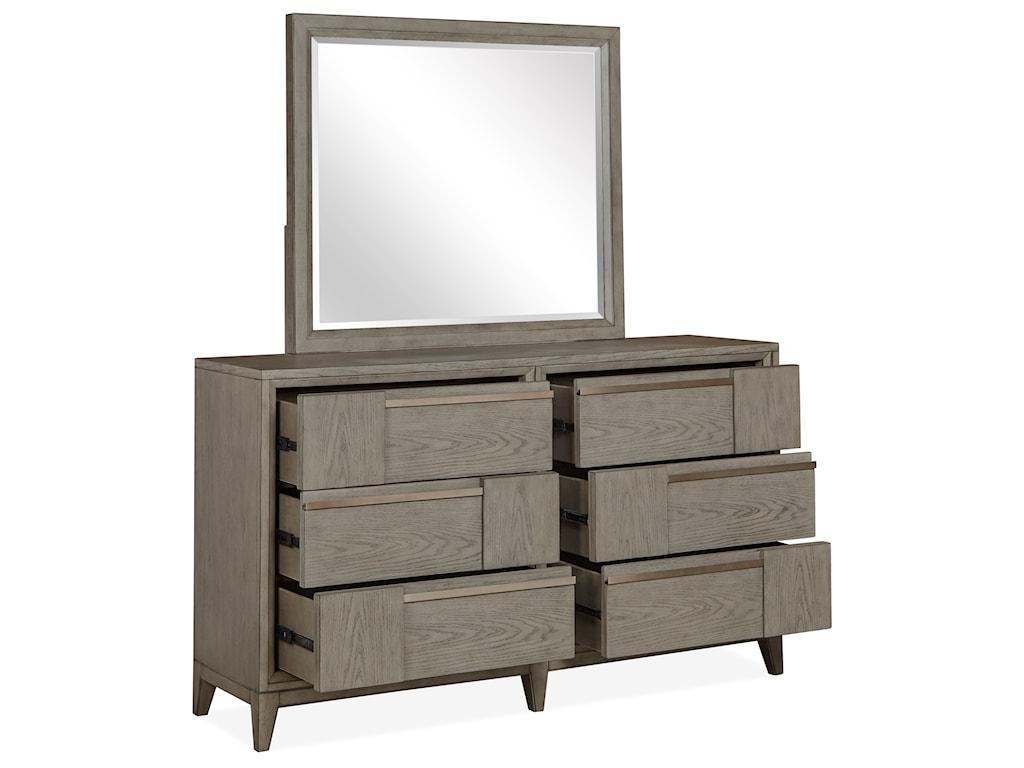 Magnussen Home AtelierDresser and Mirror Combination
