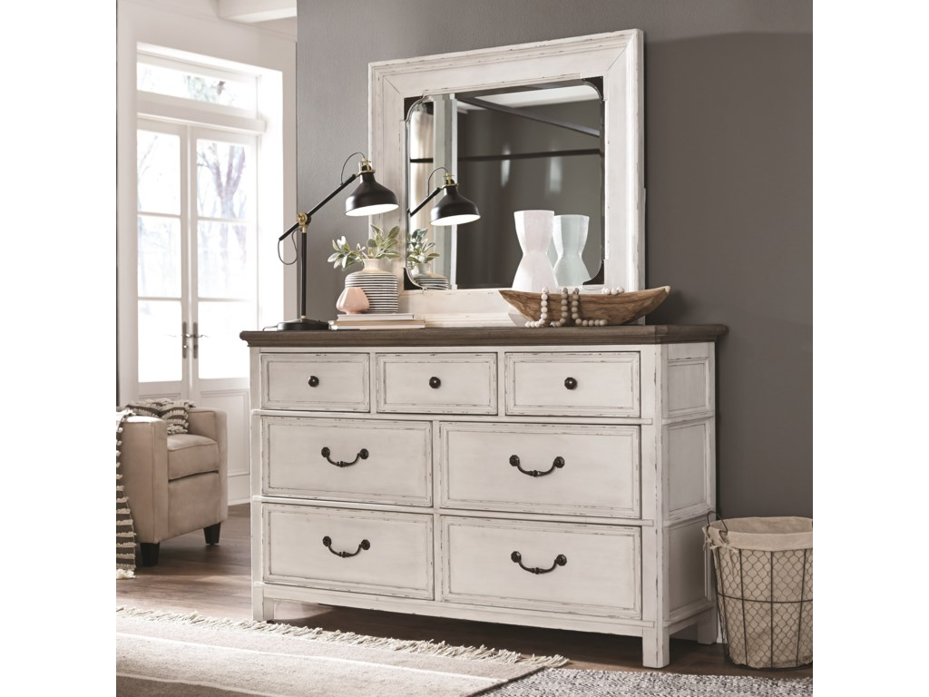 Magnussen Home Bellevue ManorDresser and Mirror