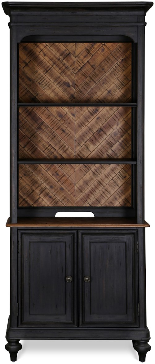 Magnussen Home Barnhardt Bookcase with Adjustable Shelves and Closed Storage