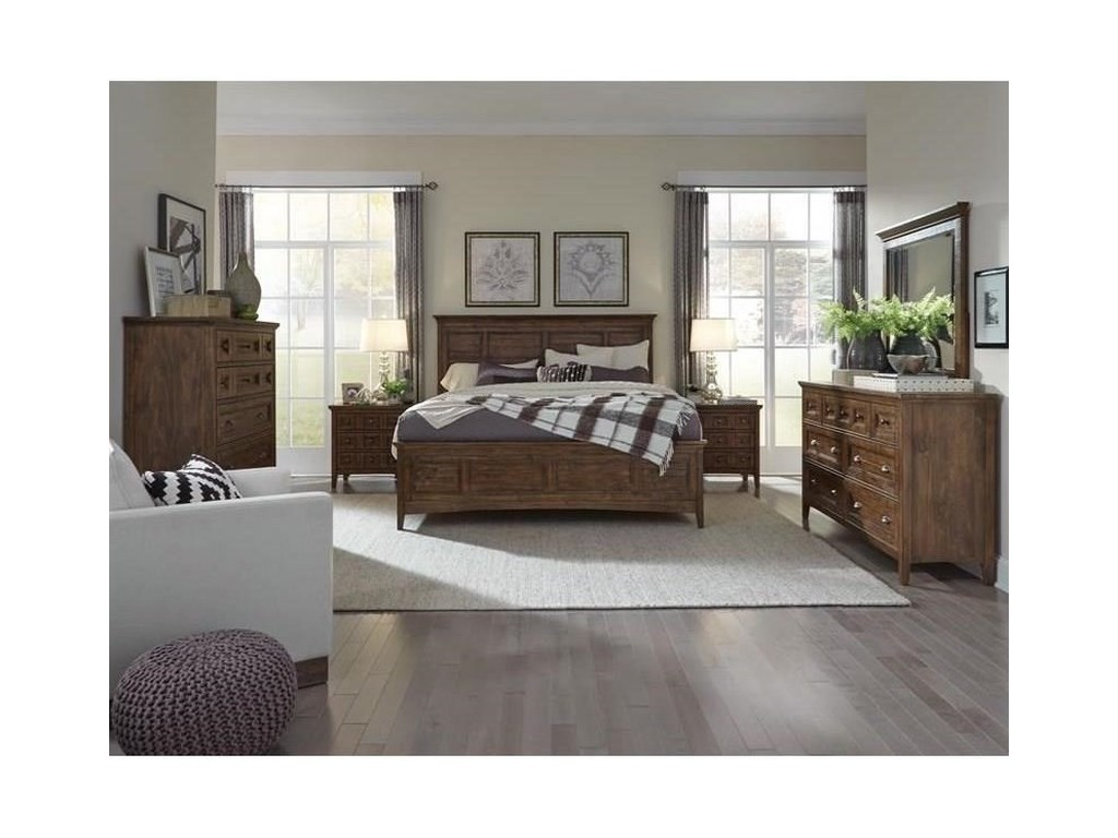 Magnussen Home Bay CreekKing Panel Bed with Storage Rails