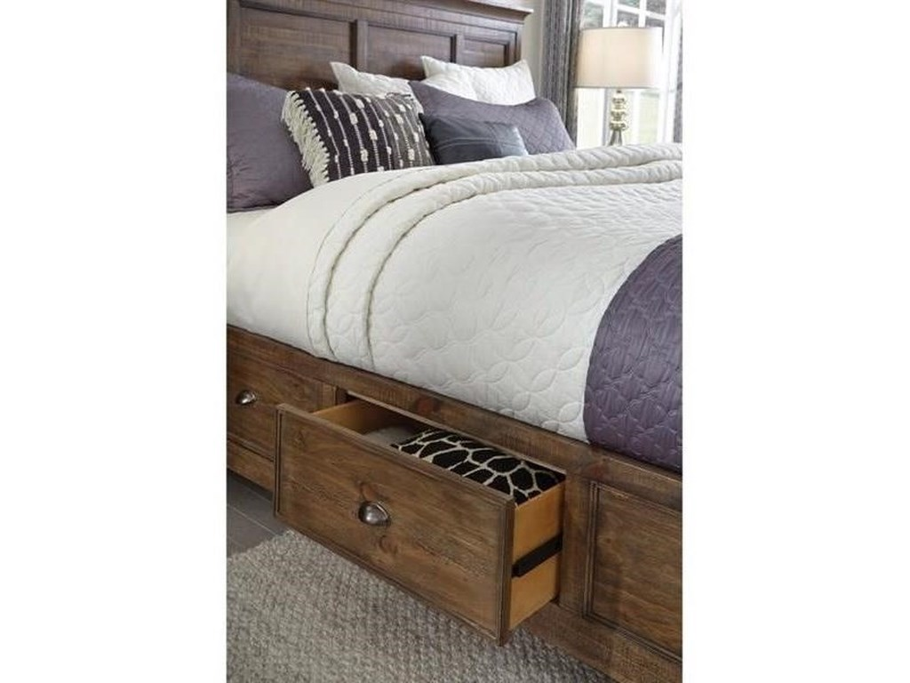 Magnussen Home Bay CreekCalifornia King Bed with Storage Rails