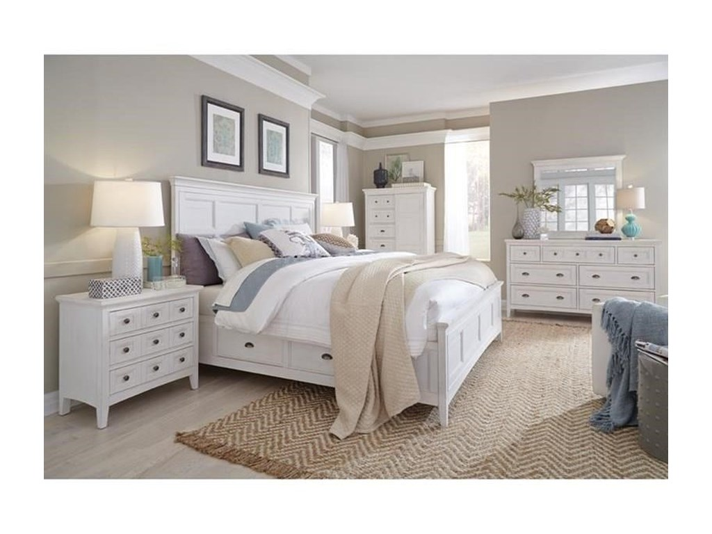 Magnussen Home Heron CoveQueen Bed with Storage Rails