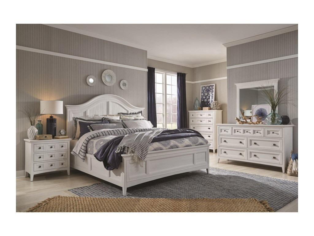 Magnussen Home Heron CoveQueen Arched Bed