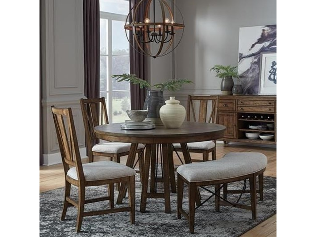 Magnussen Home Bay Creek5-Piece Dining Set with Bench