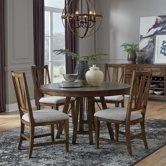 5-Piece Dining Set with Round Table