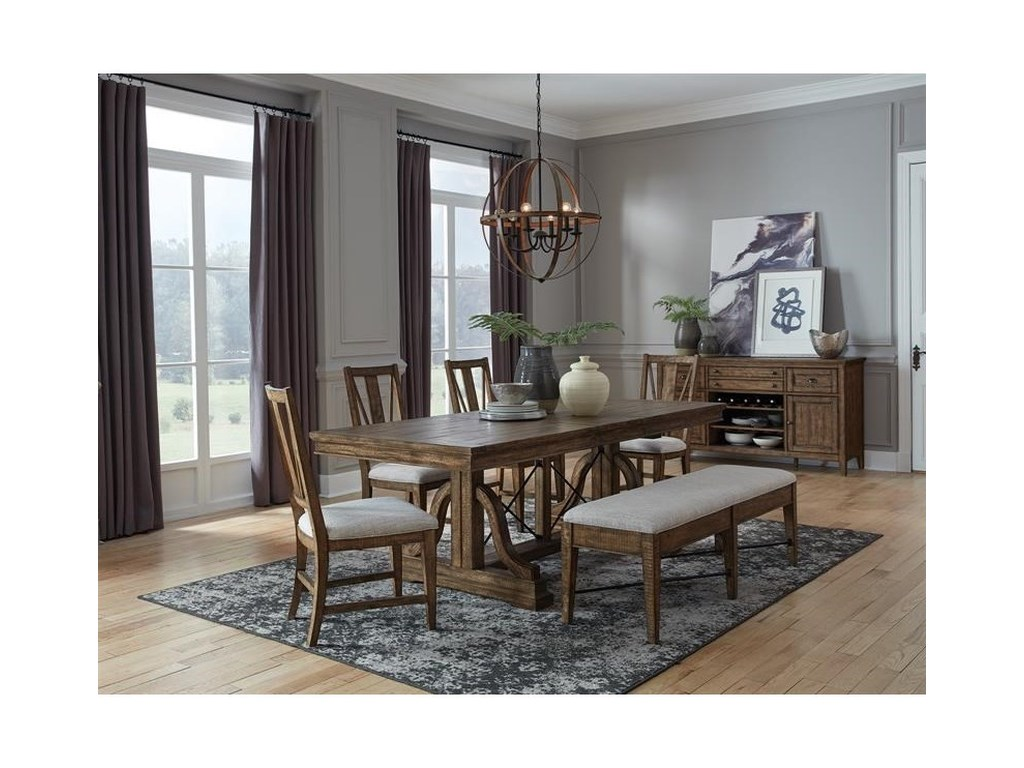Magnussen Home Bay CreekBench w/Upholstered Seat