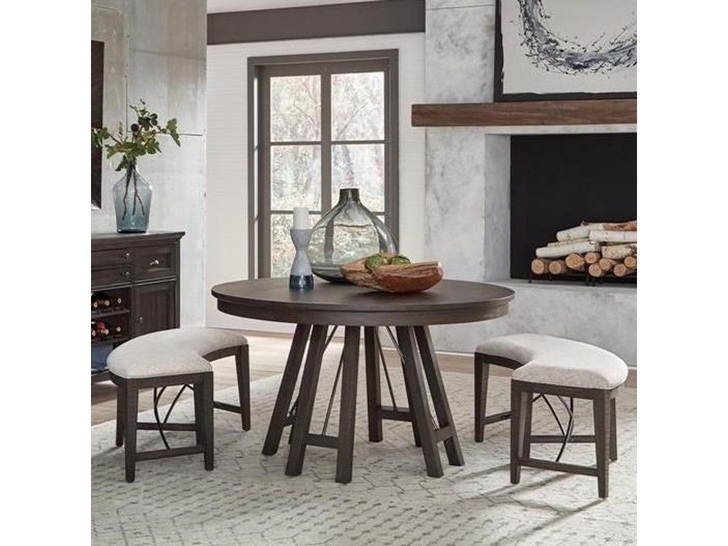 Magnussen Home Westley Falls3-Piece Dining Set with Benches