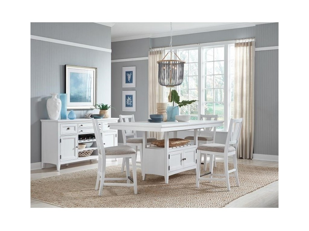 Magnussen Home Heron Cove5-Piece Counter Height Dining Set