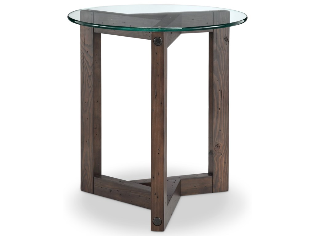 Magnussen Home BeckRound End Table