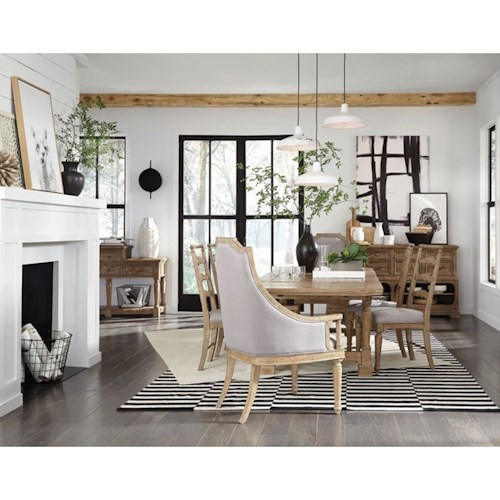 Magnussen Home Graham Hills Dining Table With 2 Breadboard Leaves, 2 Arm Chairs and 4 Side Chairs