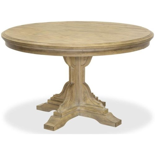Magnussen Home Graham Hills Round Dining Table With Single Pedestal