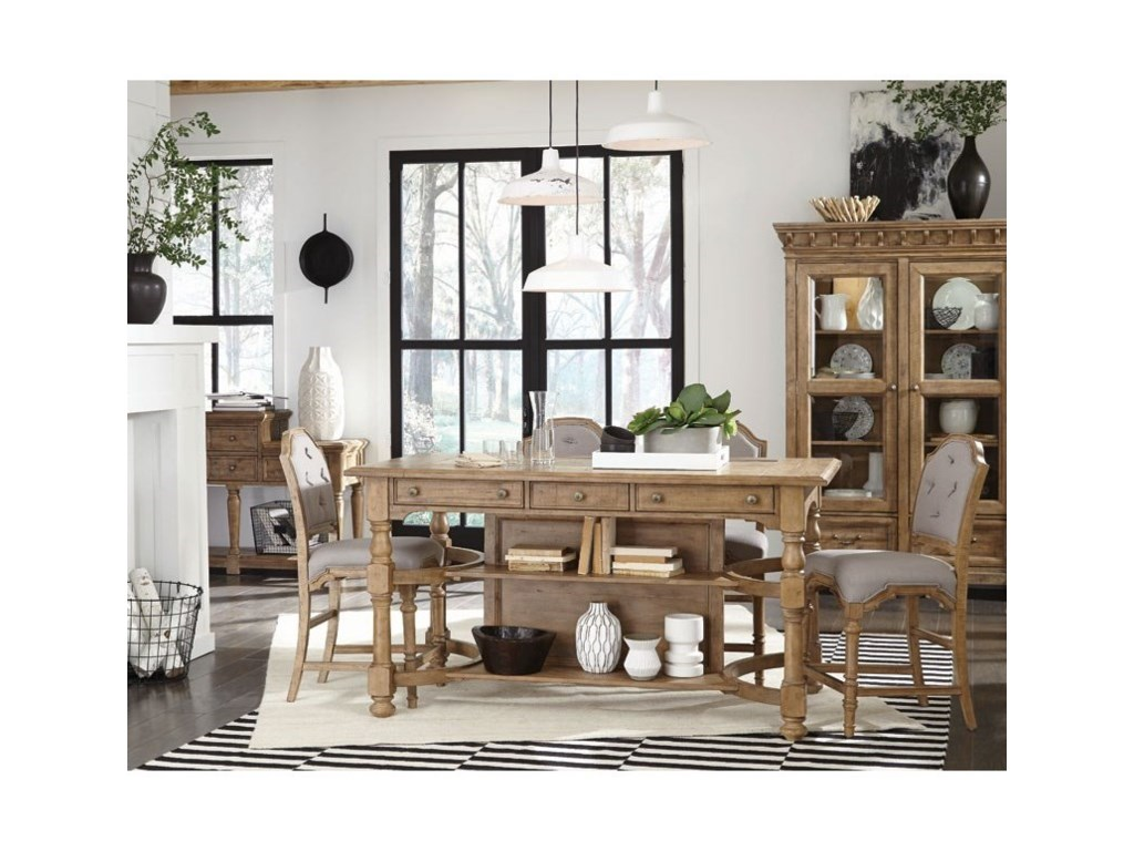 Magnussen Home Graham HillsCounter Height Table And 4 Stools