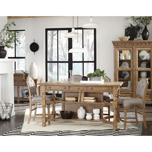 Magnussen Home Graham Hills Counter Height Storage Table And 4 Chairs