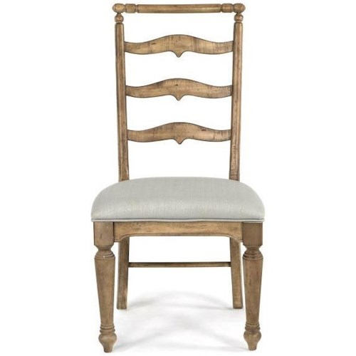 Magnussen Home Graham Hills Ladderback Side Chair With Upholstered Seat