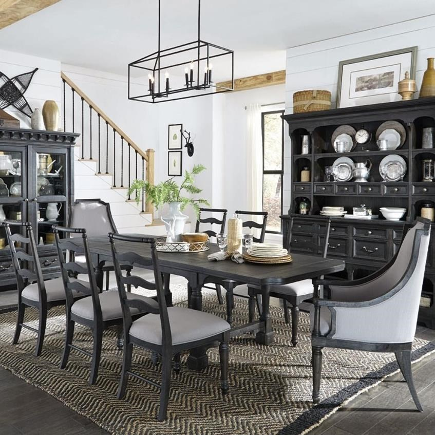 Magnussen Home Bedford CornersTable, 6 Side Chairs, 2 Host Chairs ... Nice Design