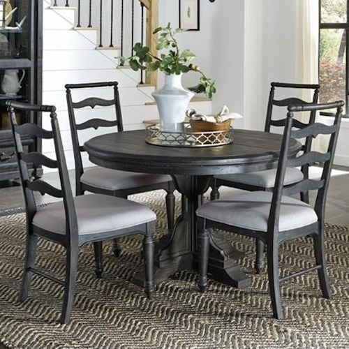 Magnussen Home Bedford Corners Single Pedestal Round Dining Table Mesmerizing Magnussen Dining Room Furniture