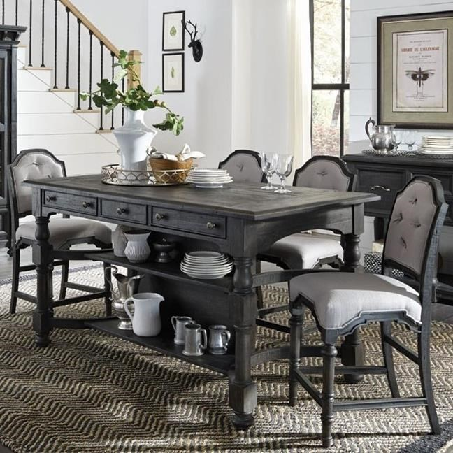 Magnussen Home Bedford CornersCounter Height Table And 4 Stools ...