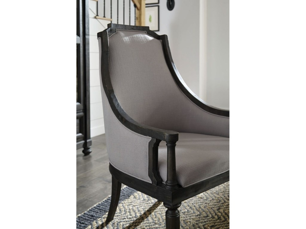 Magnussen Home Bedford CornersUpholstered Dining Arm Chair