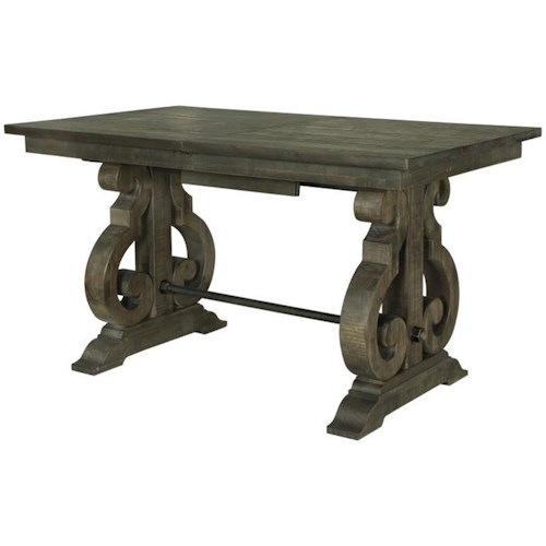 Magnussen Home Bellamy Transitional Counter Height Table with Butterfly Leaf