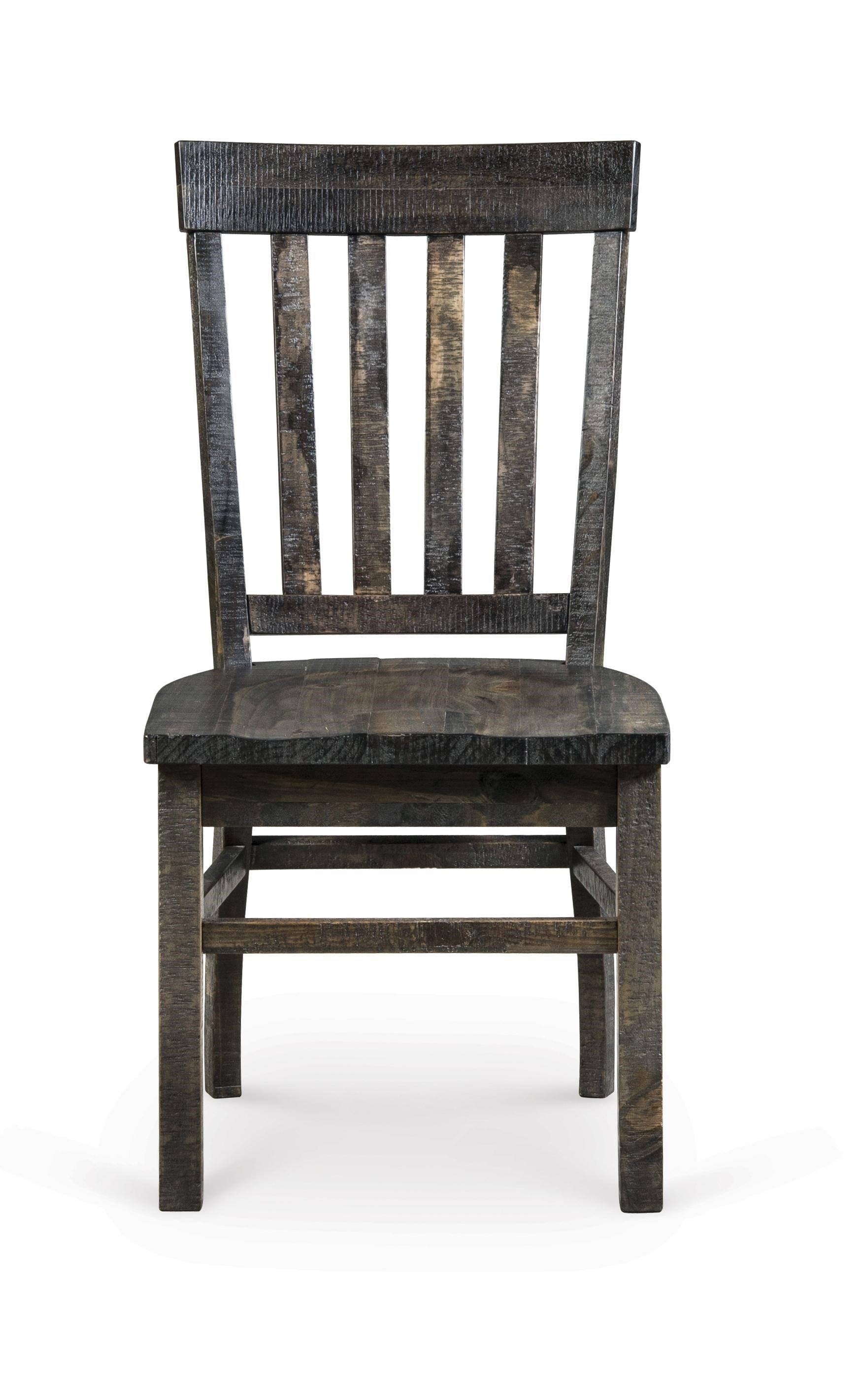 Magnussen Home Turnin Transitional Weathered Gray Dining Side Chair
