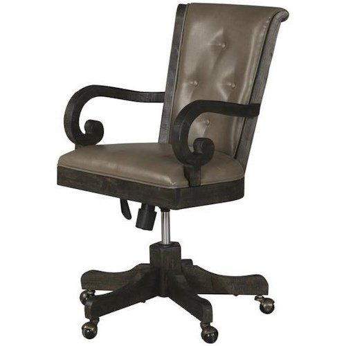Magnussen Home Bellamy Upholstered Desk Chair