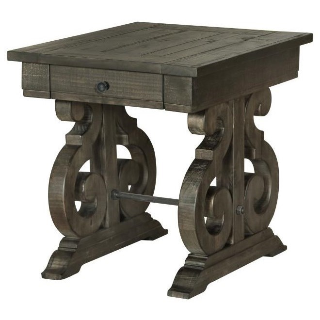 Perfect Bellamy Rectangular End Table With Drawer By Magnussen Home