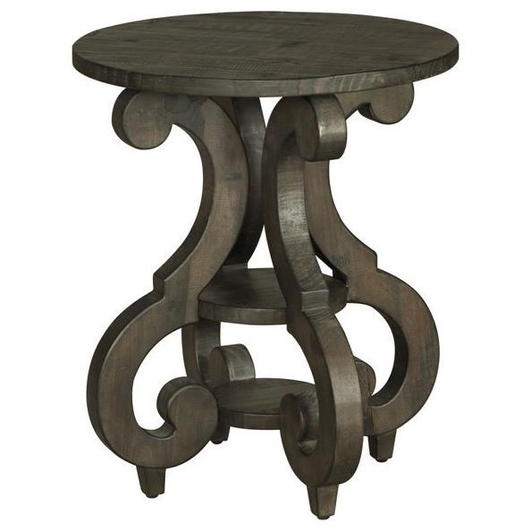 Attrayant Magnussen Home Bellamy Round Accent End Table With Shelves