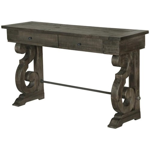 Magnussen Home Bellamy Rectangular Sofa Table with Two Drawers