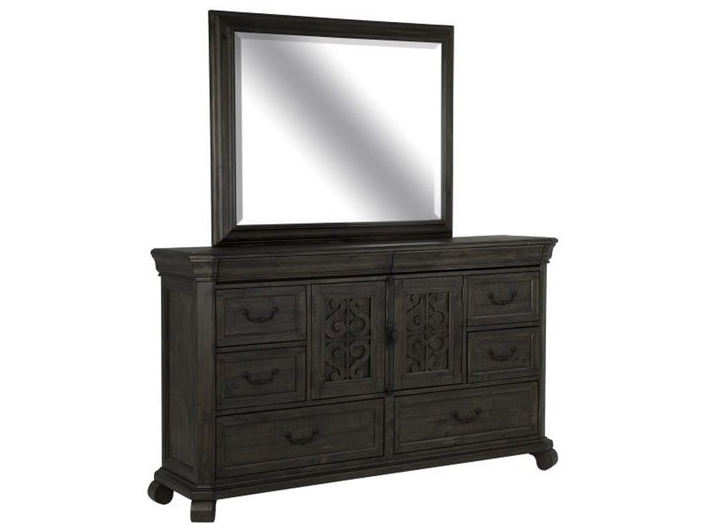 Magnussen Home BellamyDresser and Mirror Set