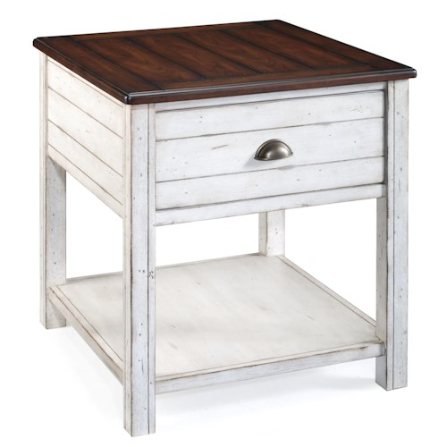 Magnussen Home Bellhaven 1 Drawer Rectangular End Table