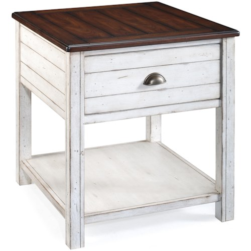 Magnussen Home Bellhaven 1 Drawer Rectangular End Table