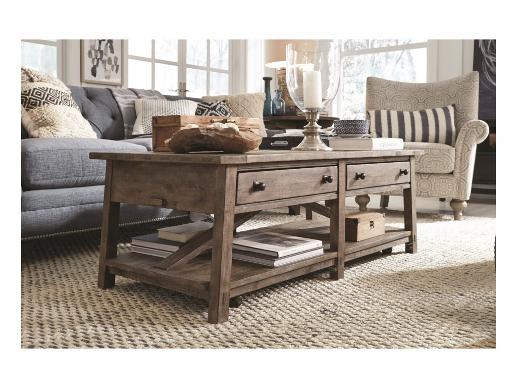 Magnussen Home Bluff HeightsRectangular Cocktail Table