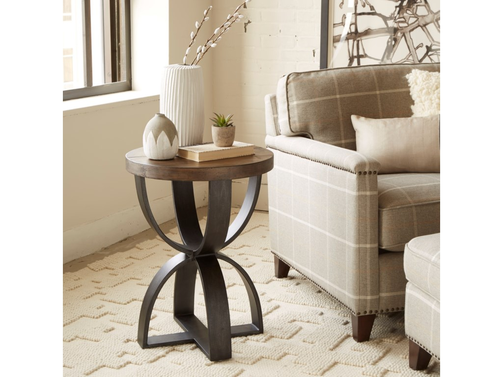 Magnussen Home Bowden Round Accent Table