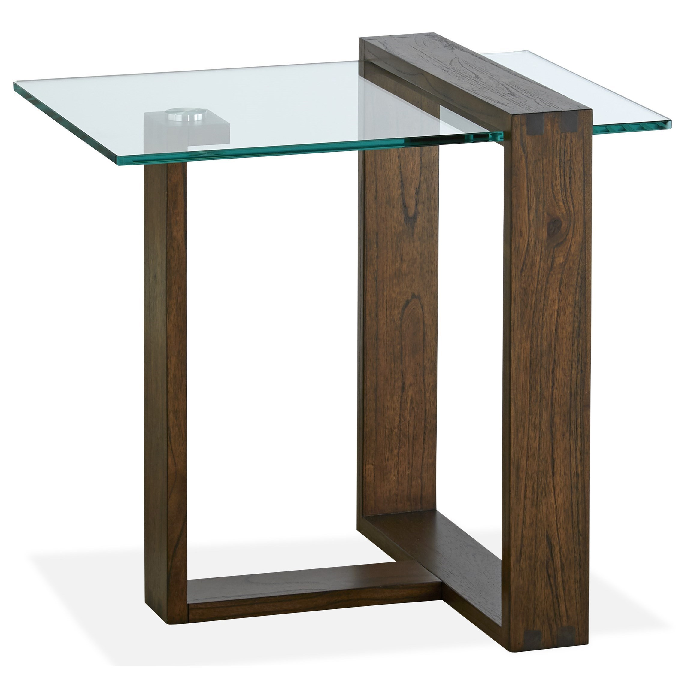 Magnussen Home Bristow T4527 03 Contemporary Rectangular End Table With Glass Top Sam Levitz Furniture End Tables