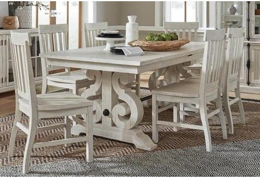 Magnussen Home Brooklyn 5 Piece Dining Table Set Includes Table And 4 Side Chairs Morris Home Dining 5 Piece Sets