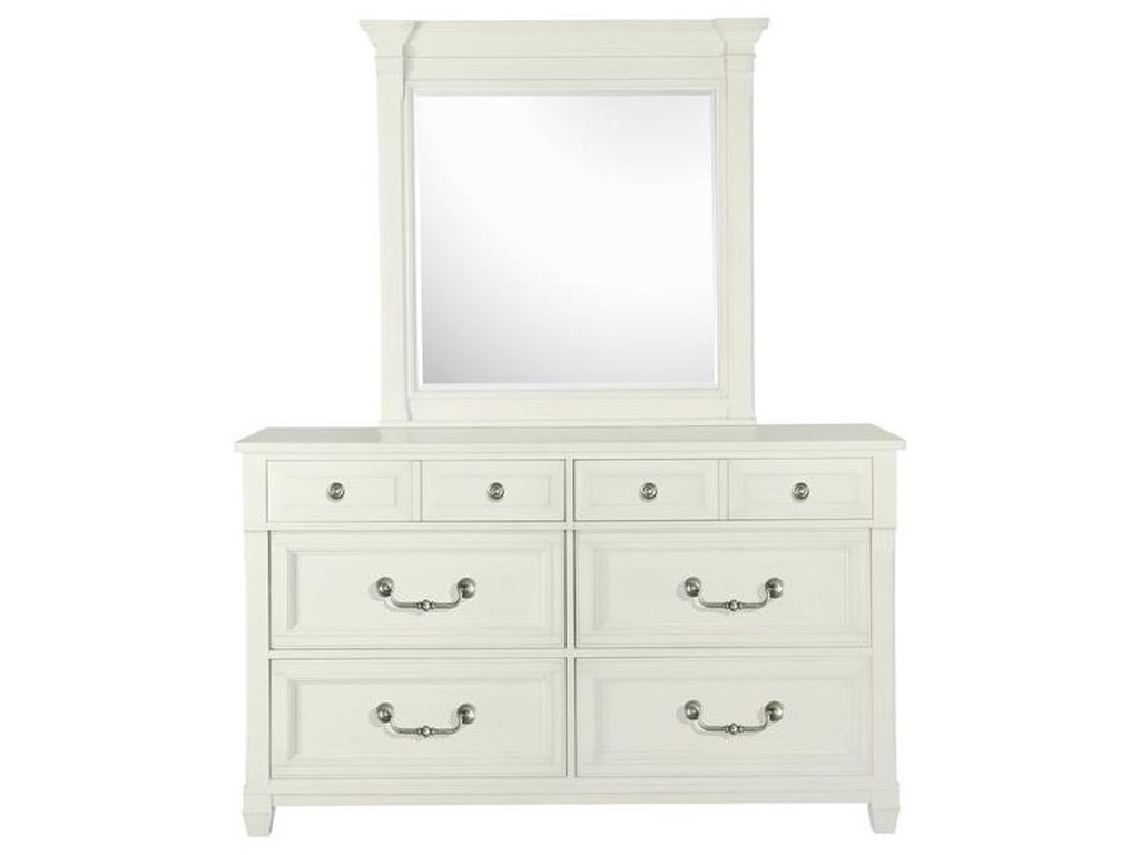 Magnussen Home Brookfield6 Drawer Dresser and Mirror