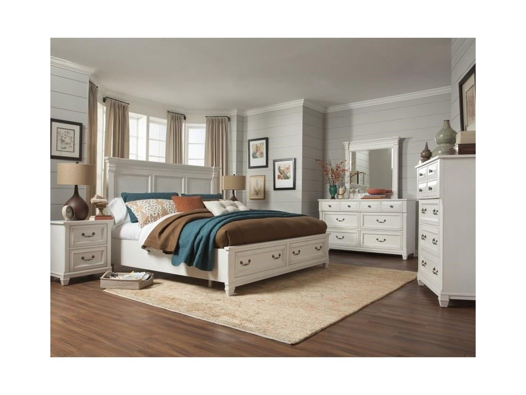 Magnussen Home BrookfieldQueen Wood Storage Bed