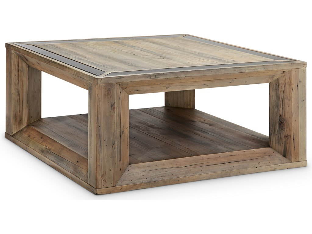 Magnussen Home Square Cocktail Table with Casters
