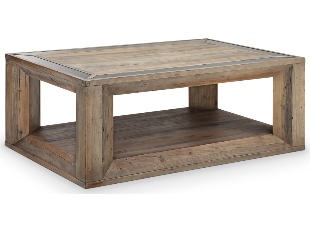 Magnussen Home Brunswick Rectangular Cocktail Table with Casters