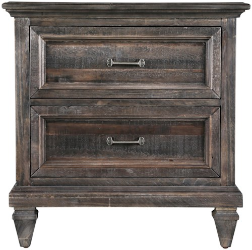 Magnussen Home Calistoga 2-Drawer Night Stand with Touch Lighting