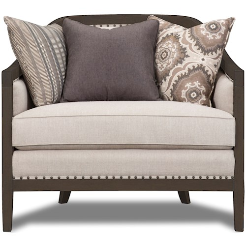 Magnussen Home Colbie Accent Chair with Exposed Wood Frame