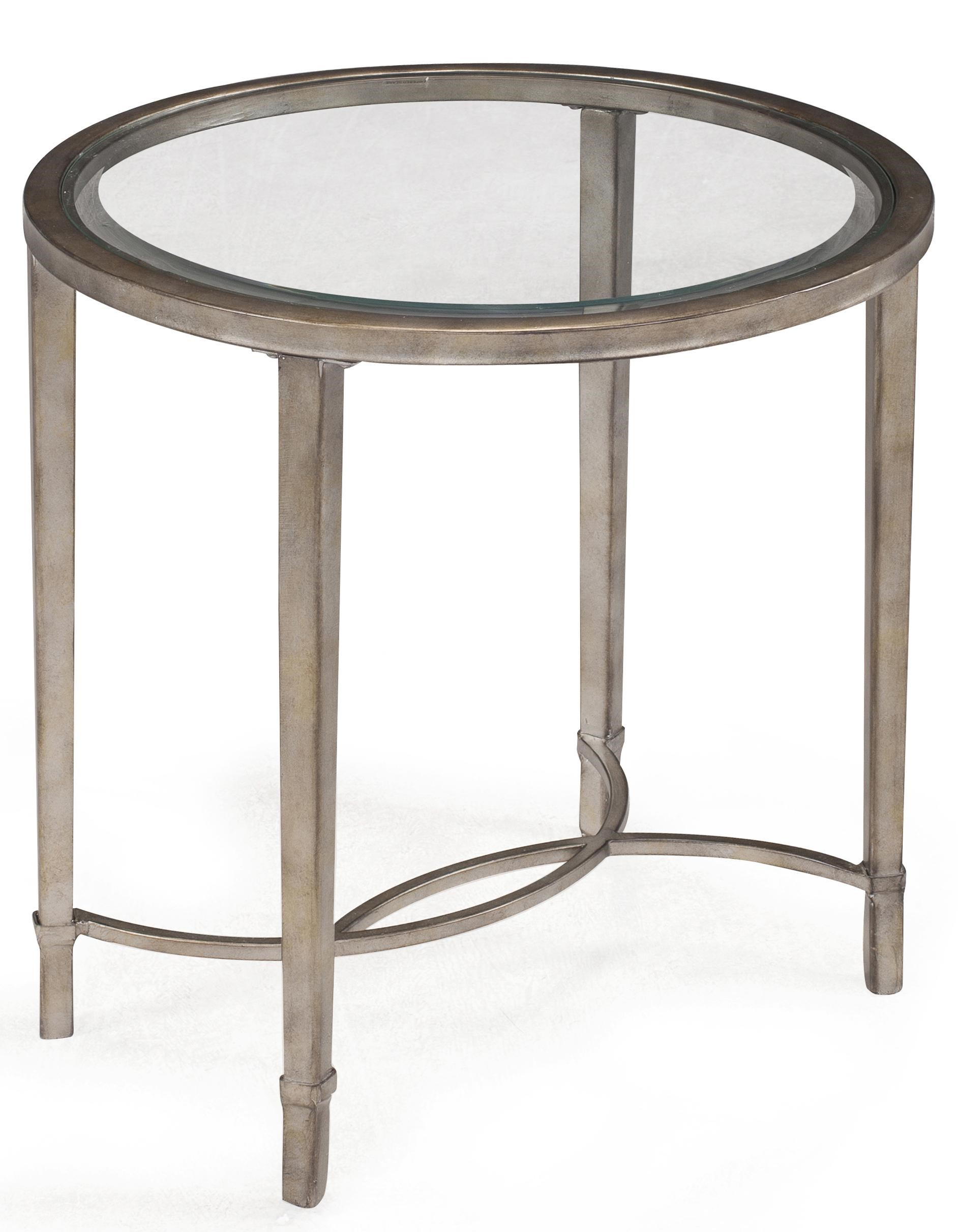 Copia Metal And Glass Oval End Table By Magnussen Home