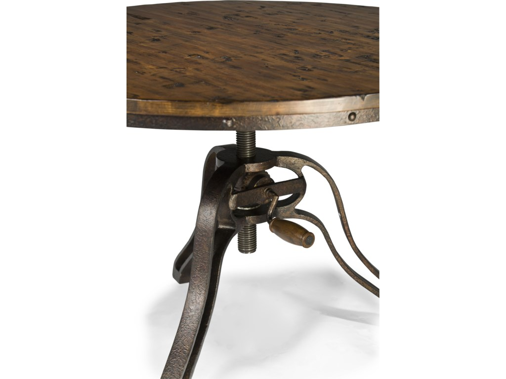 Table Edge is Lined with Riveted Iron Trim