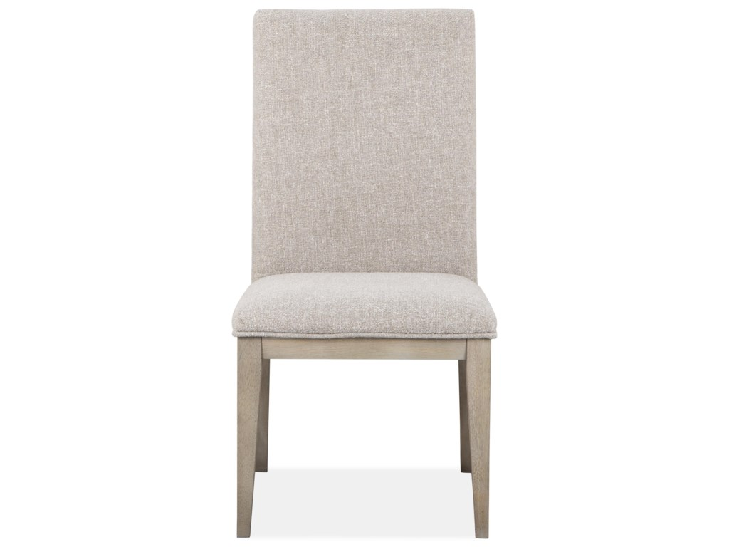 Magnussen Home PalisadeDining Side Chair with Upholstered Seat & Ba