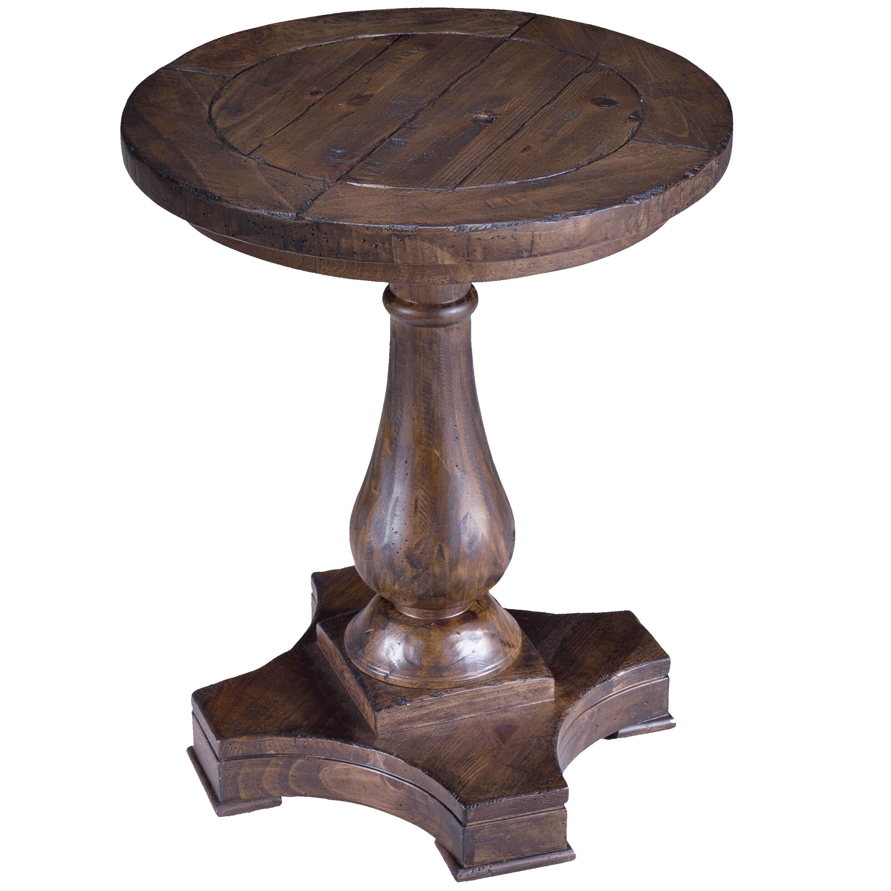 - Magnussen Home Densbury Round Column Pedestal Accent End Table