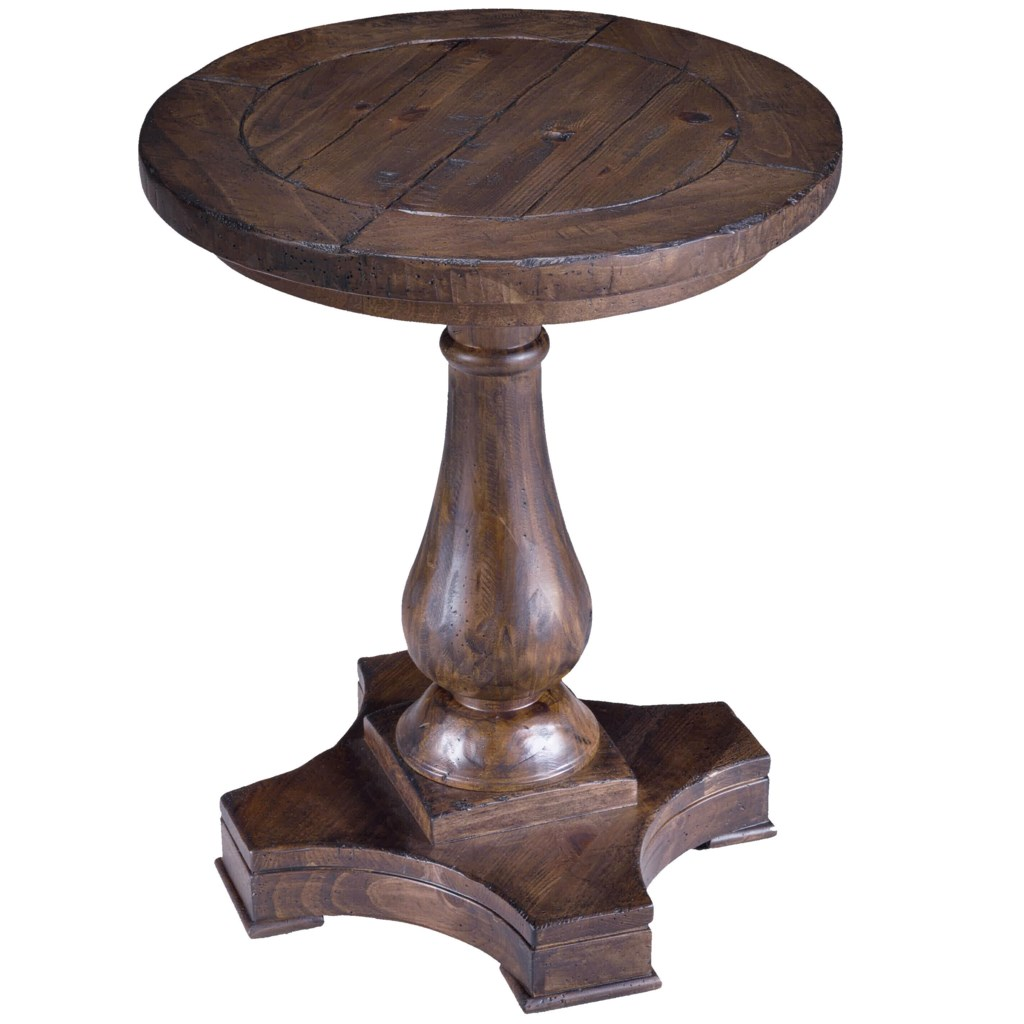 Magnussen Home Densbury Round Column Pedestal Accent End Table
